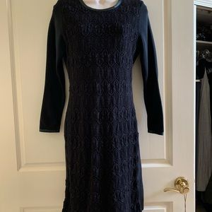 Dresses & Skirts - Vintage Hippie BoHo lace knit dress